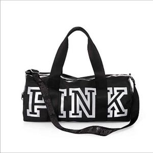 VS PINK Reflective Duffle Gym Bag